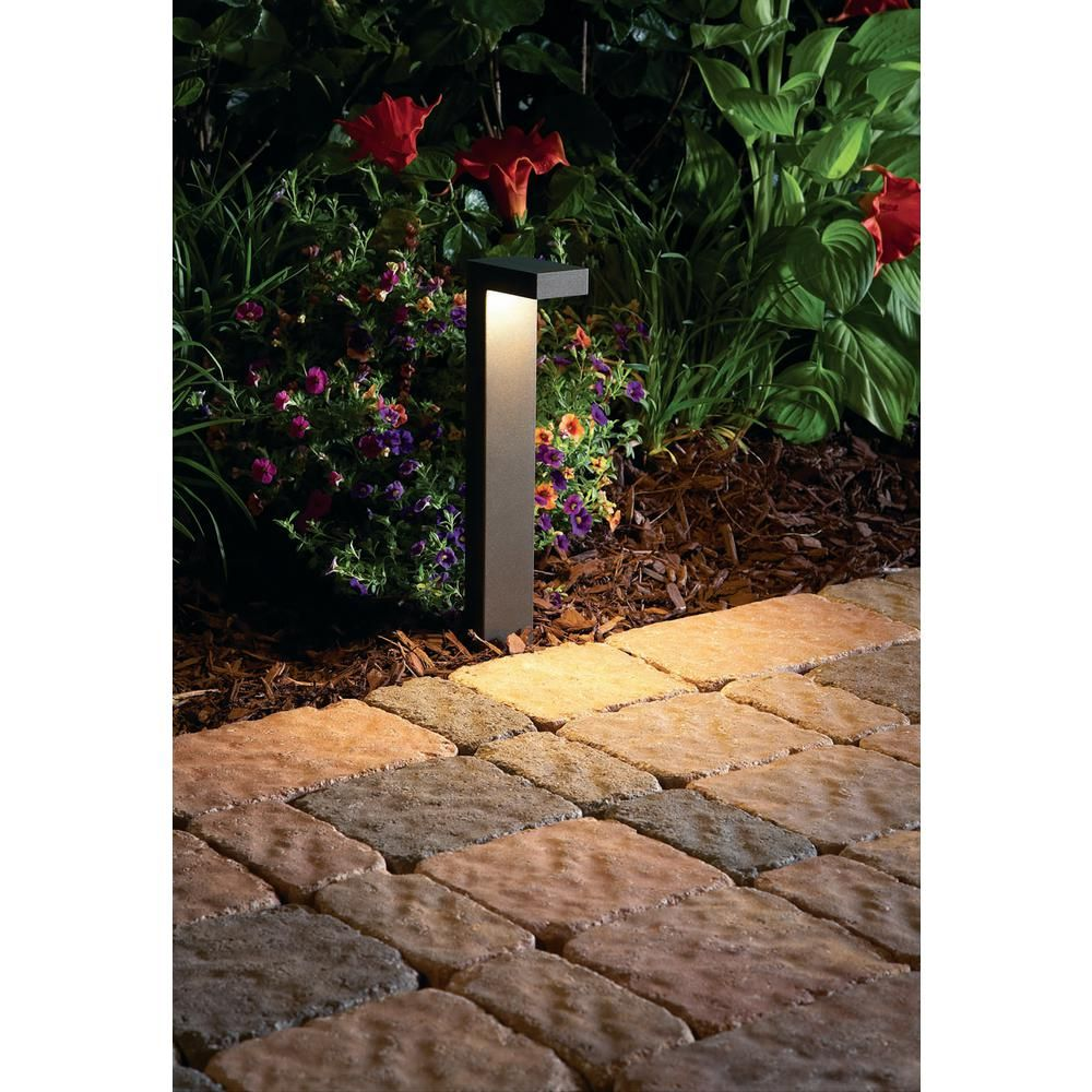 Hampton Bay 3 Watt Black Outdoor Integrated Led Landscape Path Light Jao1501l 2 The Home Depot In 2020 Walkway Lights Path Lights Driveway Lighting