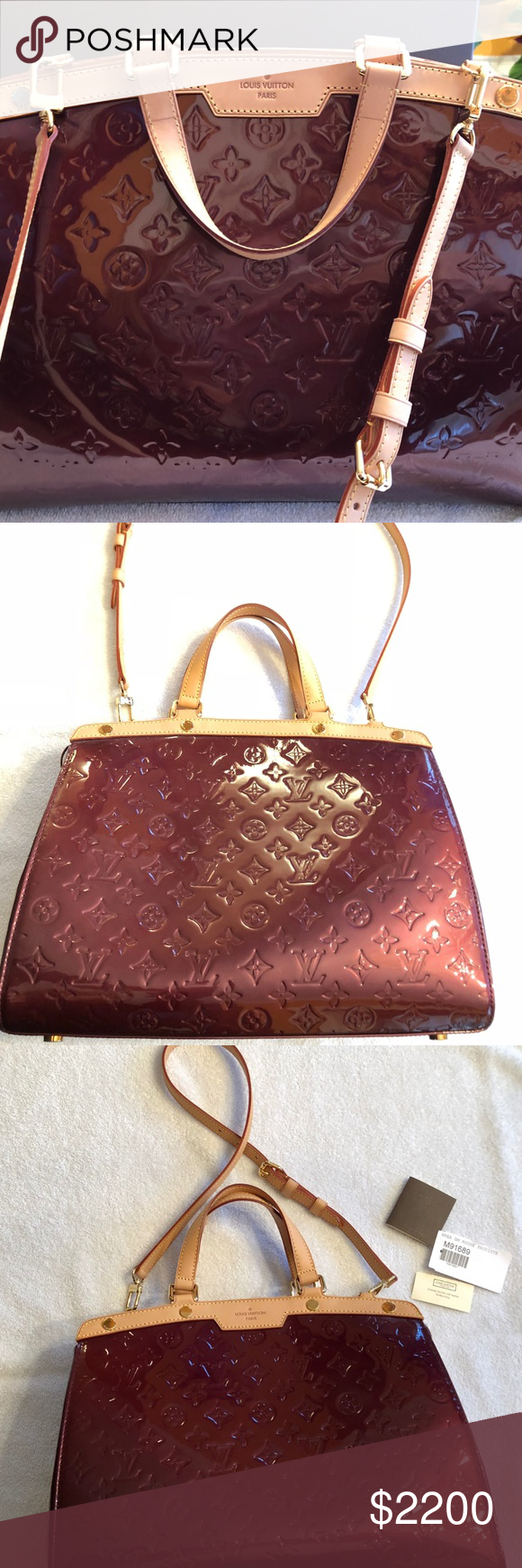 Spotted while shopping on Poshmark  Authentic LOUIS VUITTON Rouge Brea GM  Shoulder Bag!  poshmark  fashion  shopping  style  Louis Vuitton  Handbags af8d672858