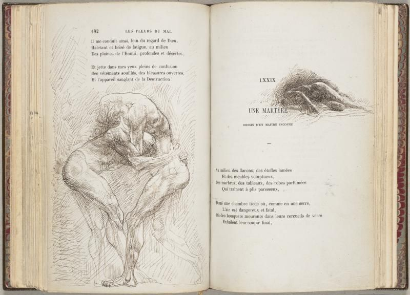 Daskabinett Baudelaire S Les Fleurs Du Mal With Illustrations Of
