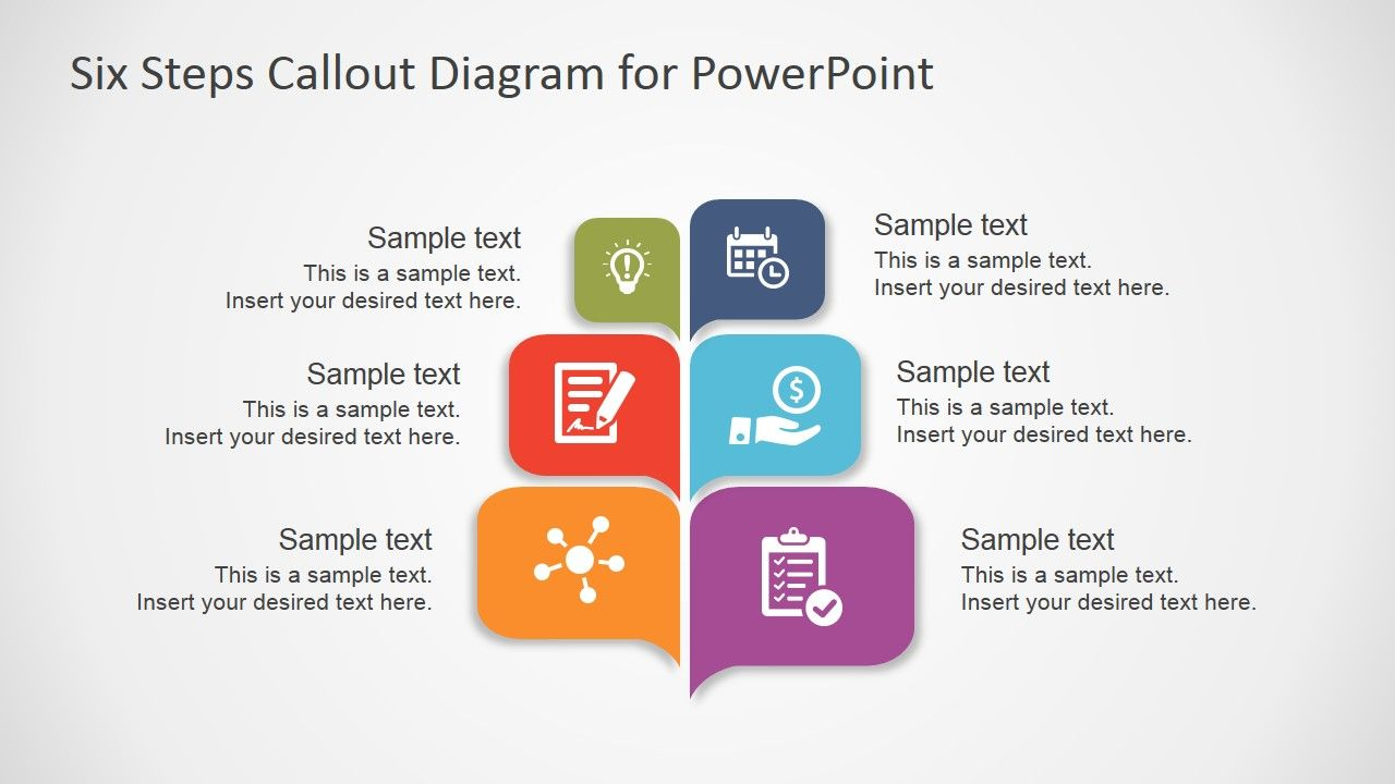 Free Six Steps Callout Diagram For Powerpoint Slidemodel Powerpoint Powerpoint Templates Resource Classroom