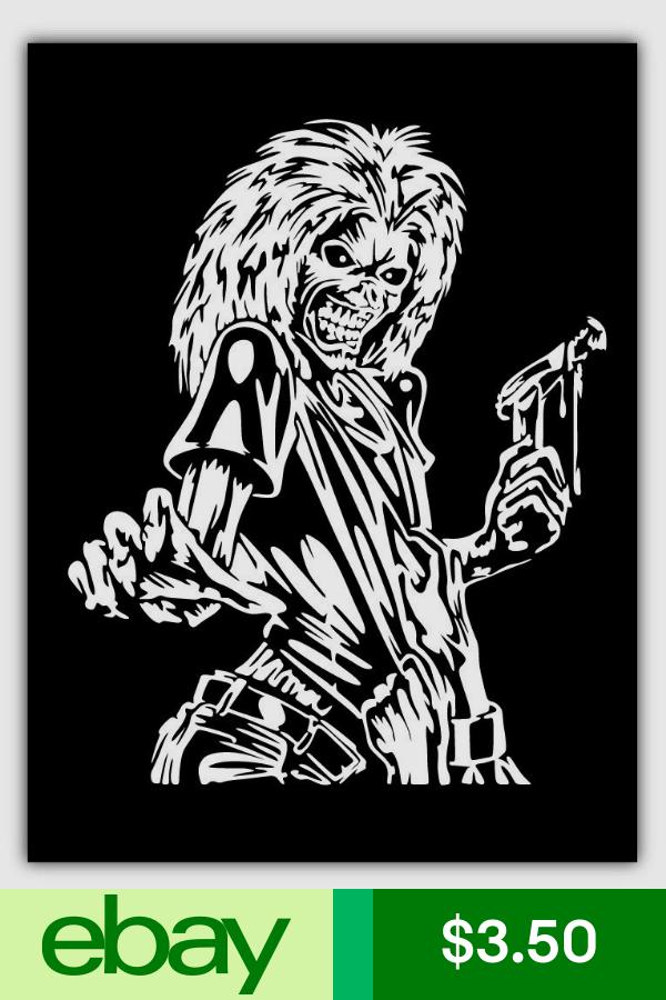 Iron Maiden Killers Sticker Car Bumper Decal 3 5 Or 6 Silhouette Art Retro Poster Linocut Art