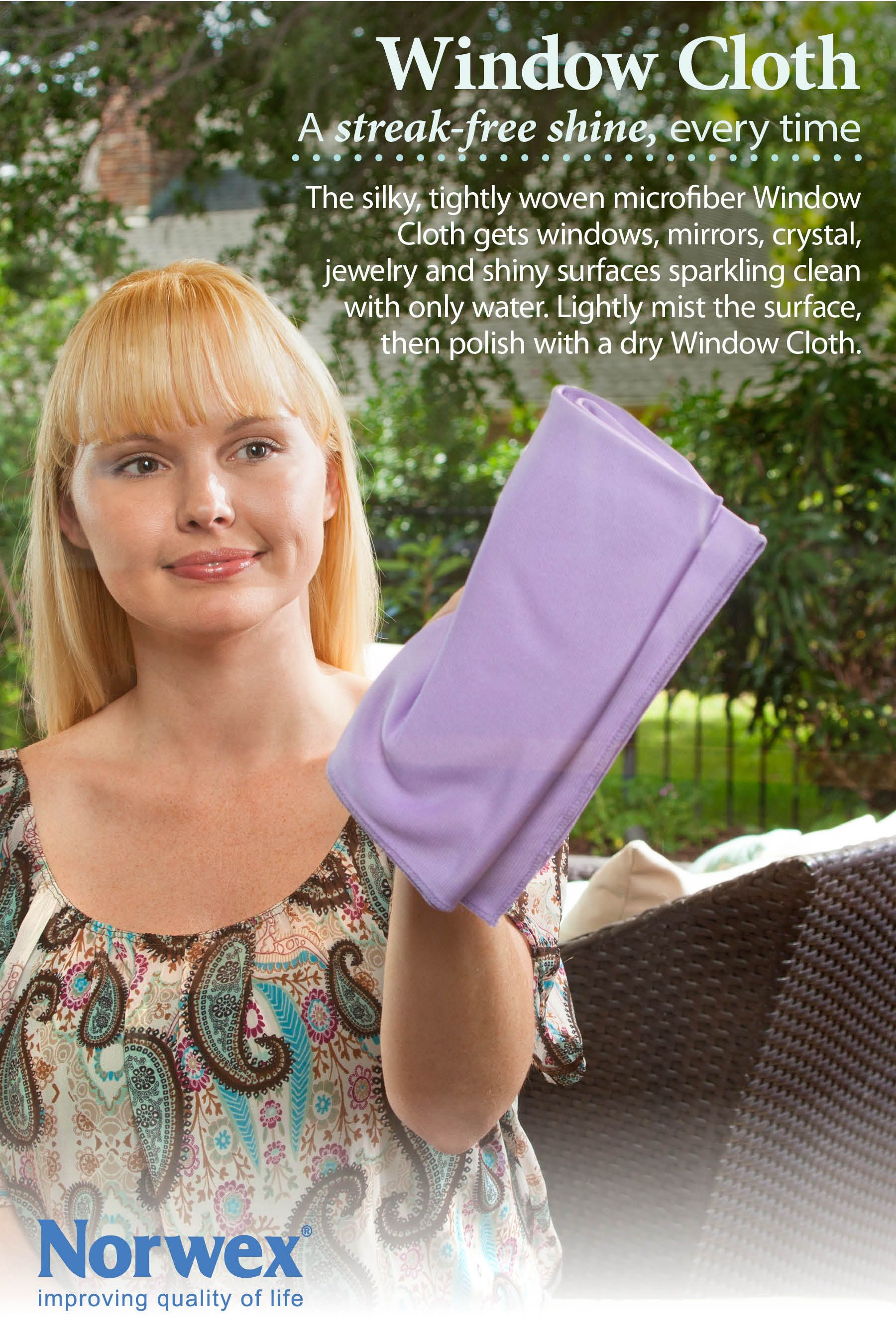 Norwex window cloth no need for chemical glass cleaners - Best cloth for cleaning windows ...