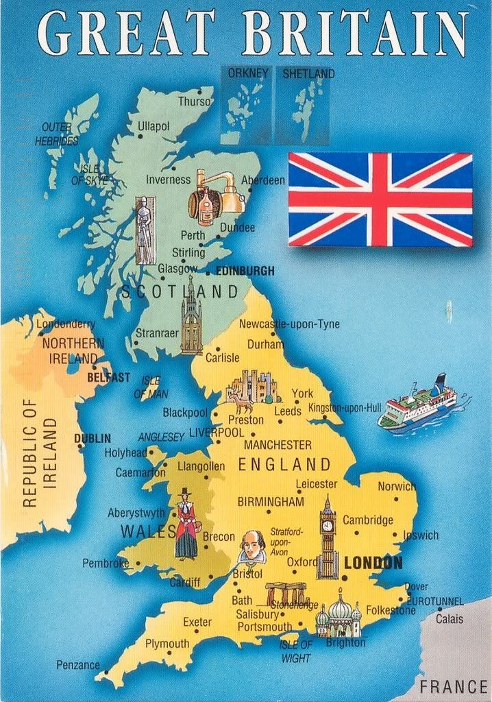 Map Great Britain European Maps Europe Pictorial Maps England