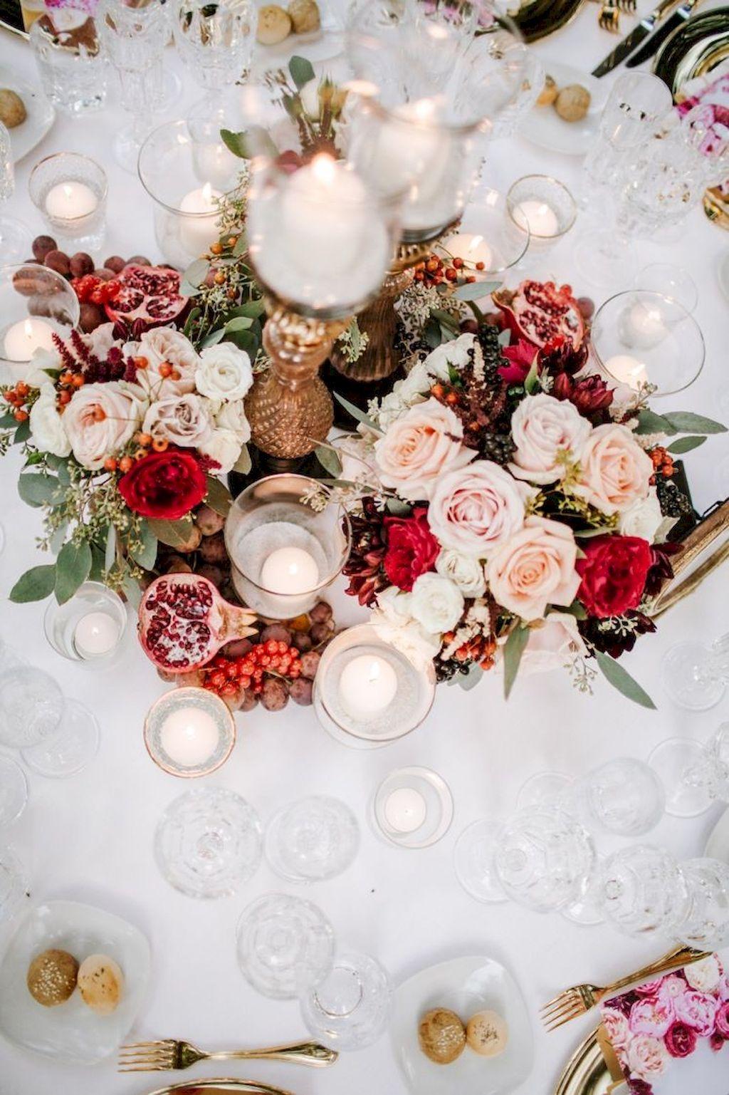 68 Romantic White Flower Centerpiece Decor Ideas   White flower ...