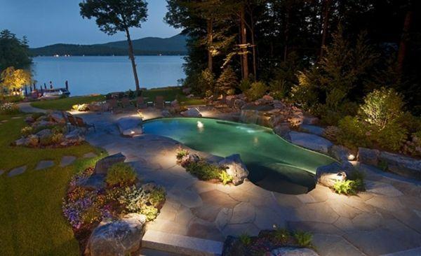 101 bilder von pool im garten nachts beleuchtung garten for Garten pool was beachten