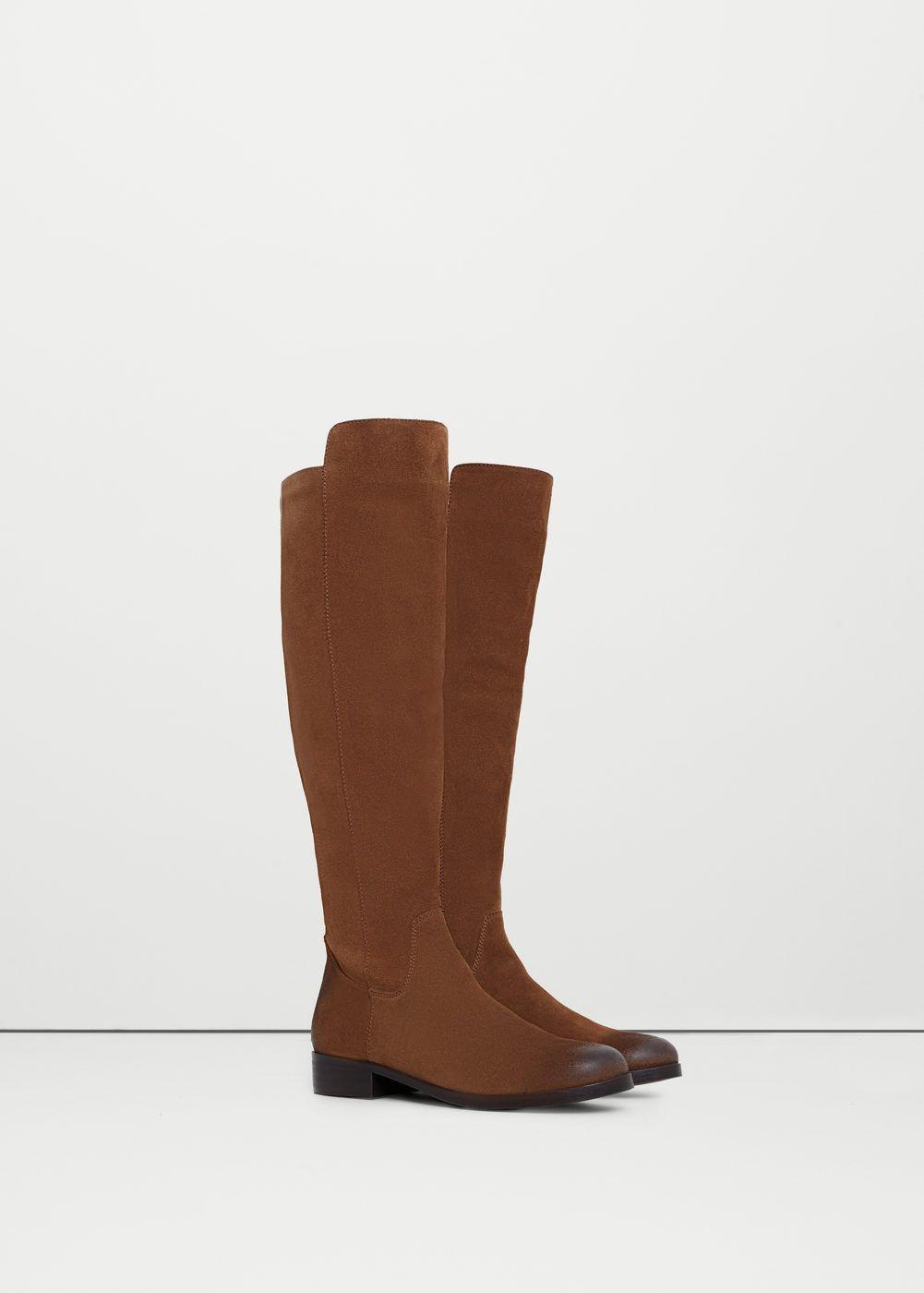 Bota alta pele - Sapatos de Mulher | MANGO Portugal