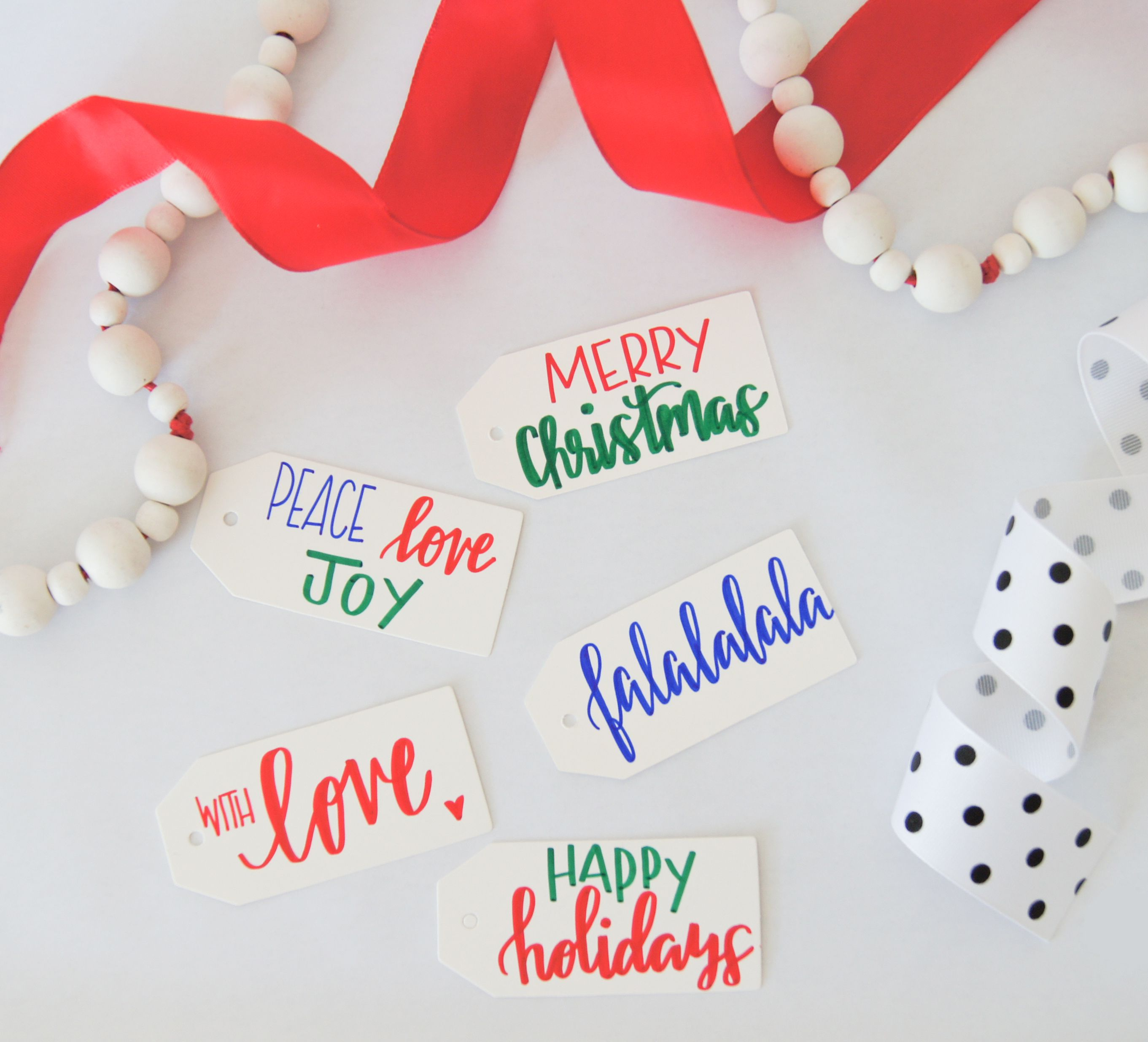Hand Lettered Calligraphy Personalized Gift Tags - Christmas Gift ...