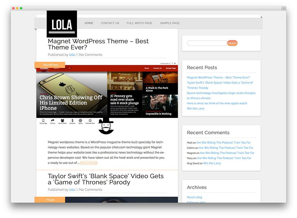 Best Free Responsive Wordpress Themes   Colorlib  Koc