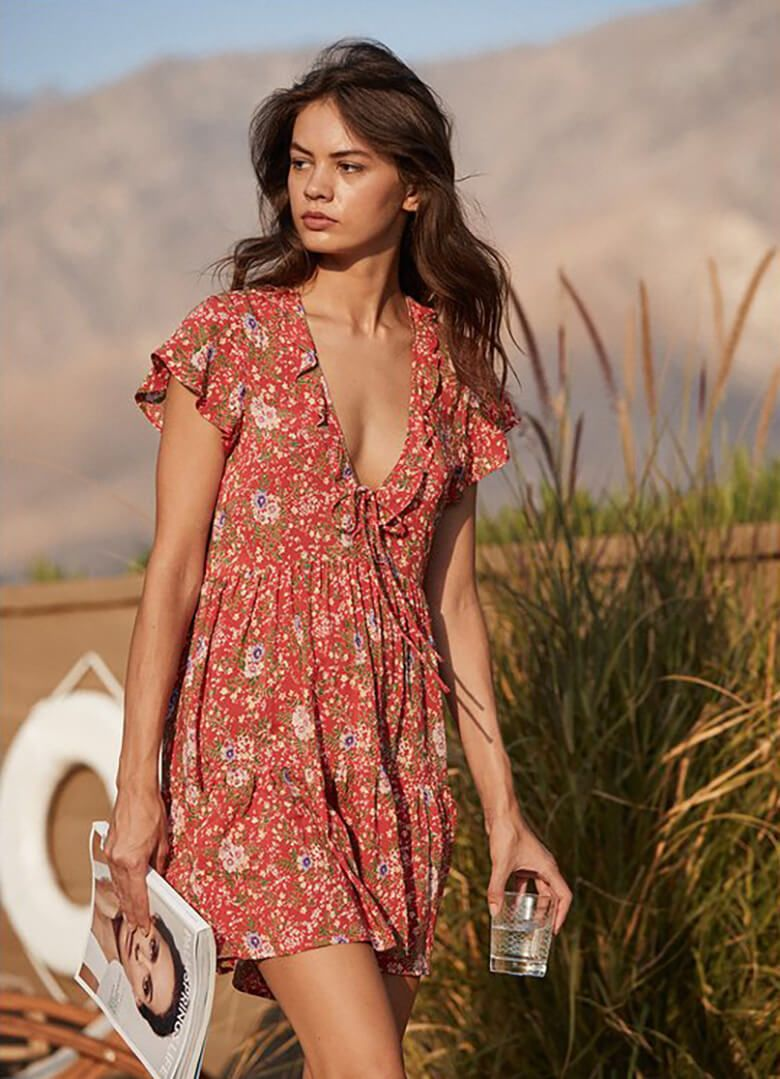 Soak Up The Sunshine In This Dreamy Collection From Auguste The Label Boho Mini Dress Fashion Dresses [ 1079 x 780 Pixel ]