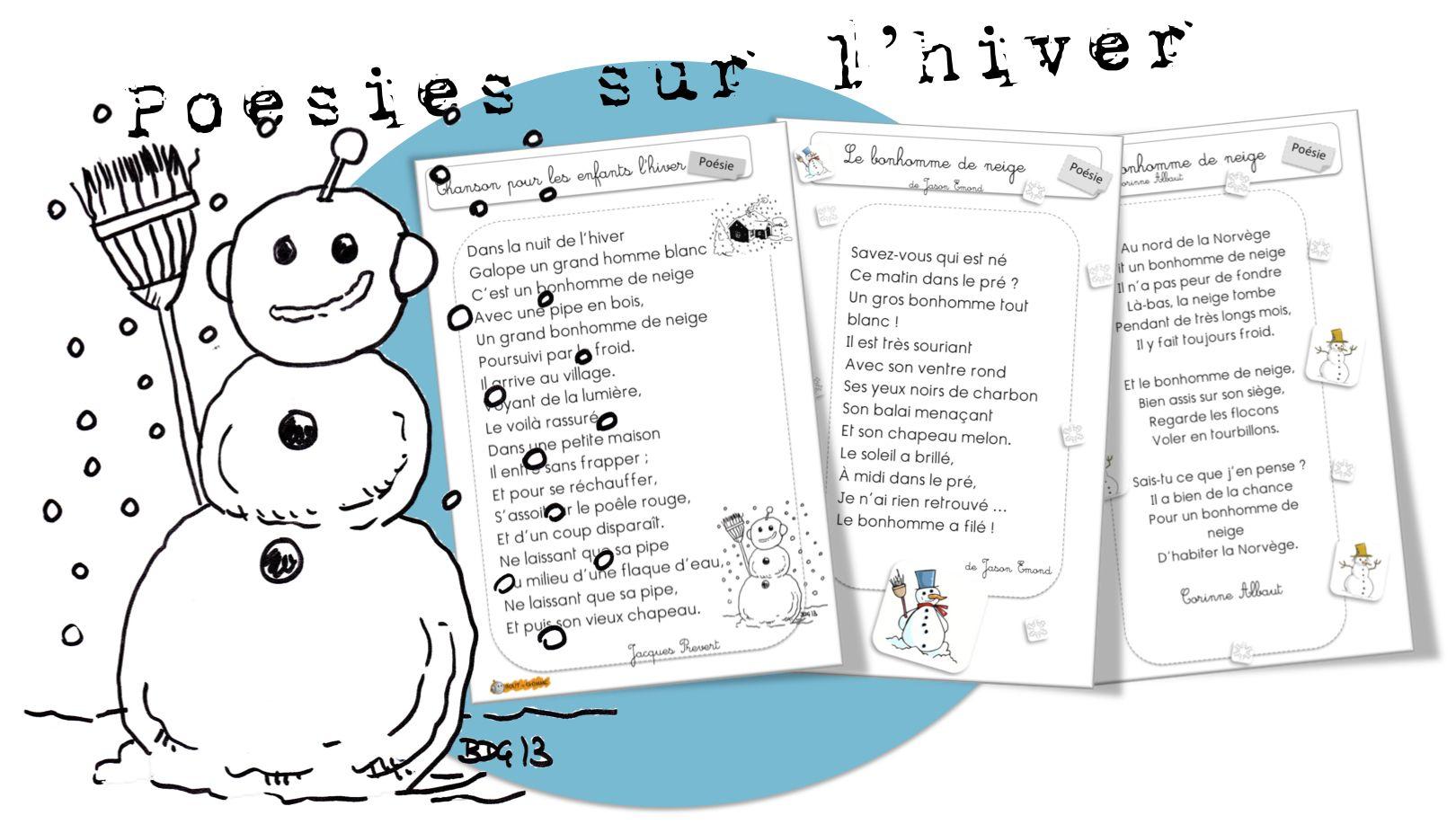 Poesies Sur L Hiver Comptine Hiver Hiver Prescolaire Poeme Hiver