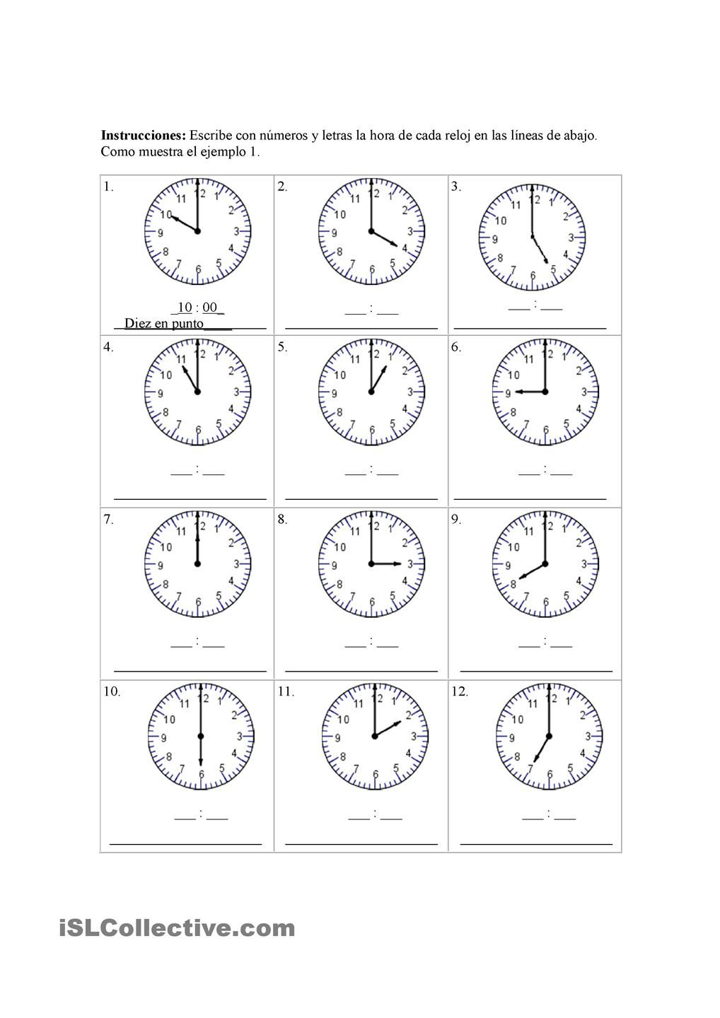 Worksheets La Hora Worksheet la hora oso amoroso pinterest spanish and math hora