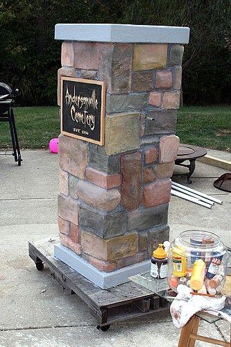 Stone Cemetery Columns : Cemetery entrance columns amazing tutorial stunningly
