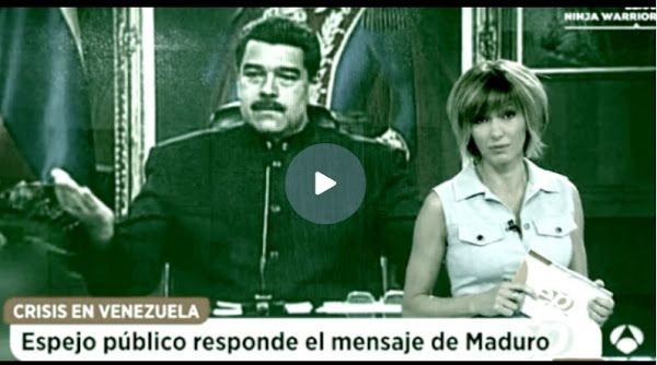 Programa español no le responderá a las estupideces de Nicolás maduro