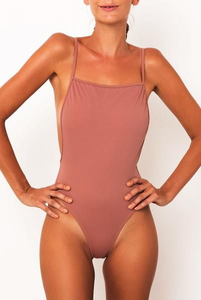 65f82f811d21d Classic 90 s high cut one-piece Medium to skimpy coverage Squared front  feature Low side