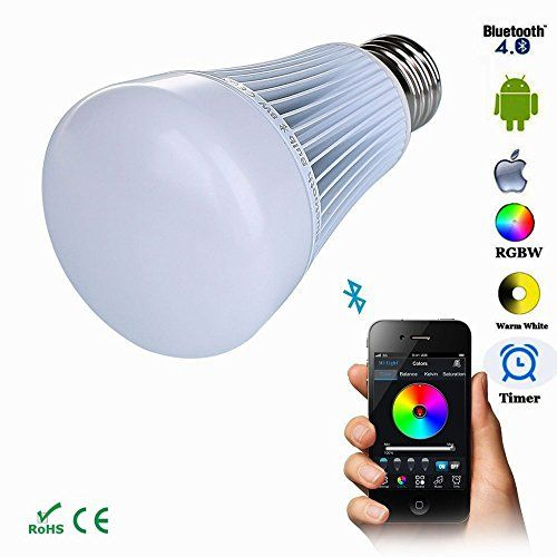 Tanbaby 8W Wireless Bluetooth LED Bulb Smartphone Controlled Color ...