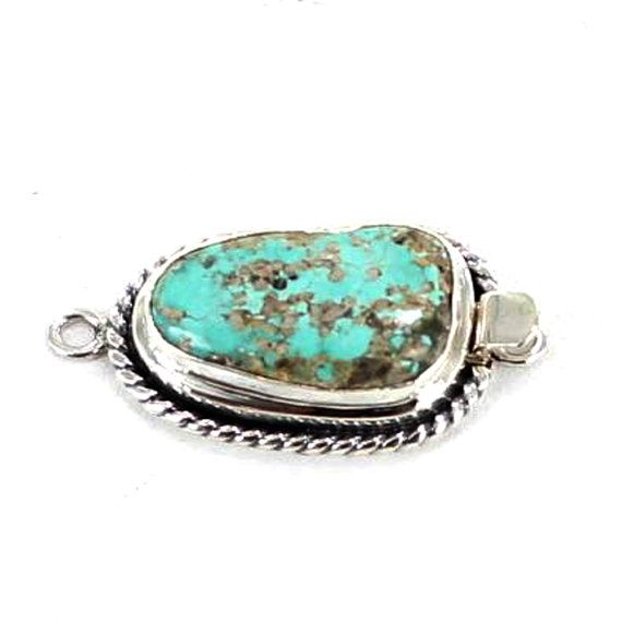 Turquoise Mountain Sterling Clasp Aqua Twist Wire by NewWorldGems