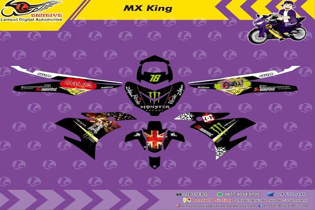 Custom Decal Vinyl Striping Motor Full Body Yamaha MX King Thema - Mio decalsmodifikasi striping mio j striping stickers decals joehansb