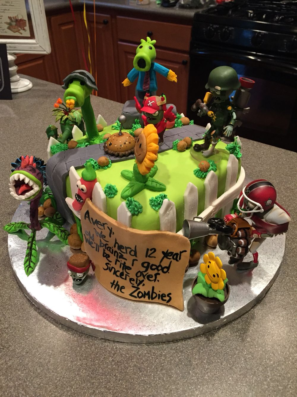 Plants Vs Zombies Garden Warfare Cake Julians 9th Birthday Party