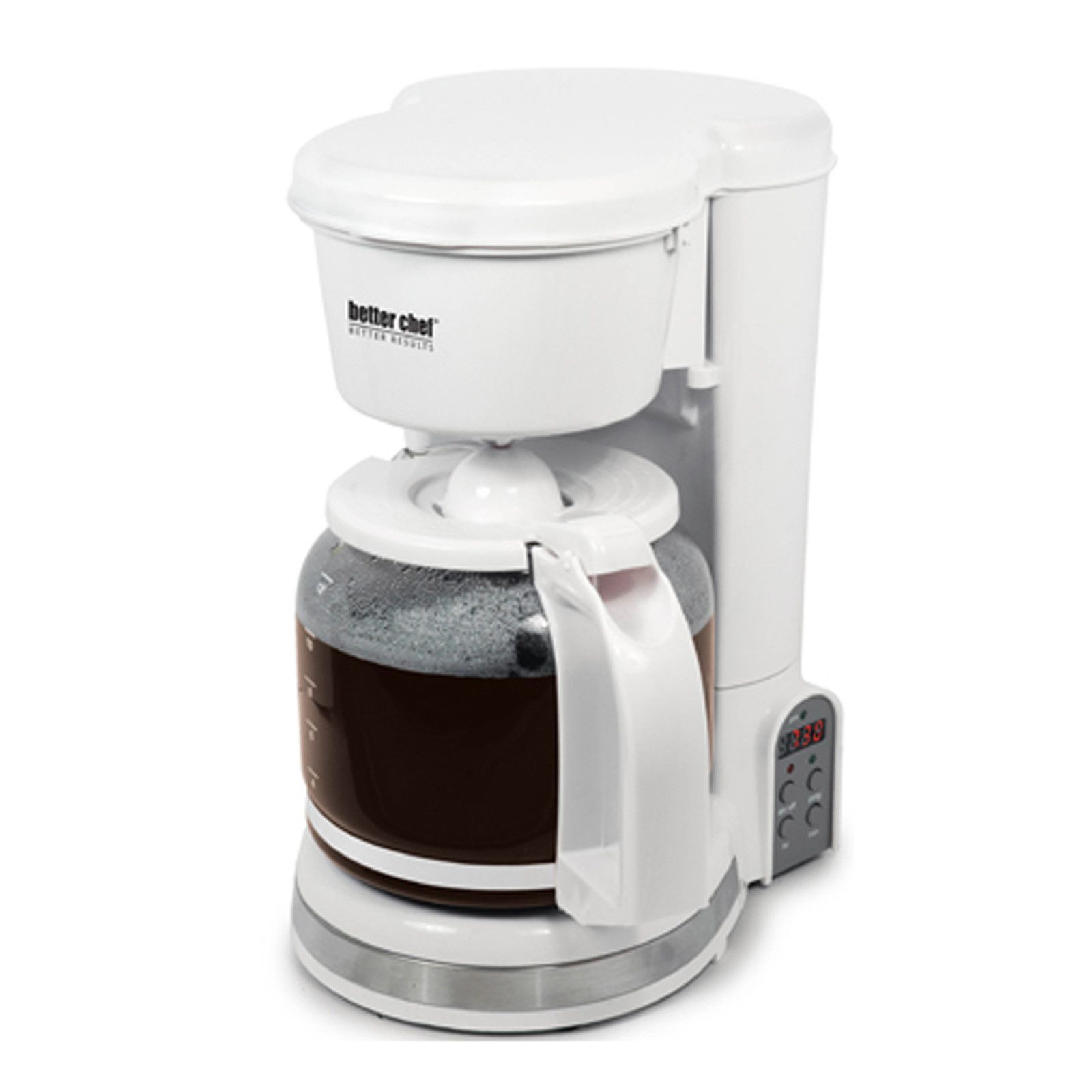 Better chef cup digital programmable coffeemaker white