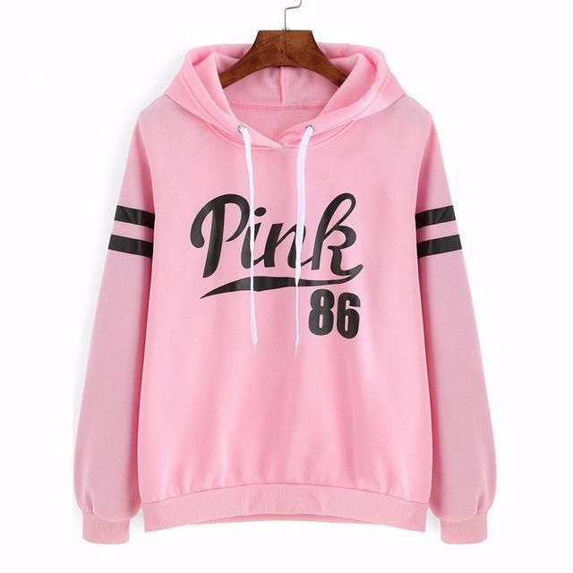5843e47de76 Pink Cute Autumn Women Hoodies Warm Slim Fabric Sweatshirts Hooded Clothing  for Students Letter Ladies Hoodies W5 35