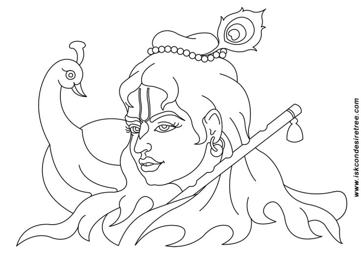 Krishna Face Sketches Lord Krishna Krishna Drawings