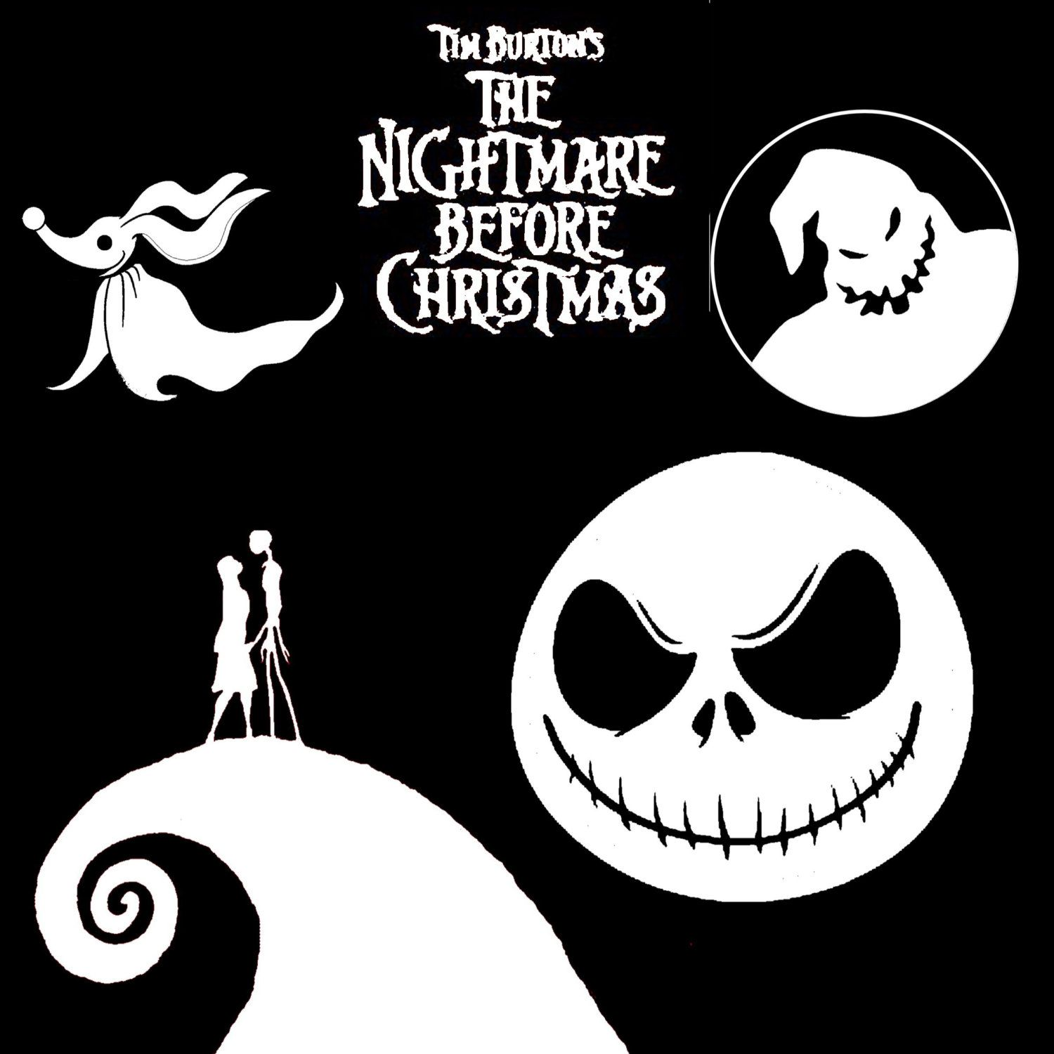 jack nightmare before christmas decal clipart | Jack | Pinterest ...