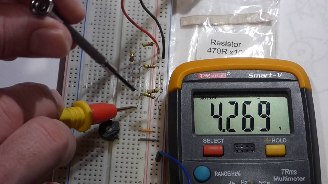 Quick Introduction To Voltage Dividers Using A Variable Resistor Circuit Trimpot