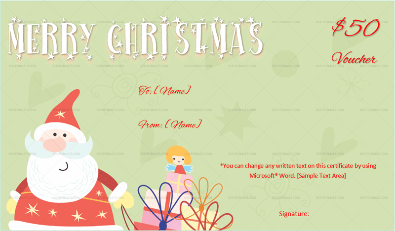 Merry Christmas Gift Voucher Template Grn 3398 Doc Formats Christmas Gift Voucher Templates Merry Christmas Gifts Christmas Gift Certificate Template