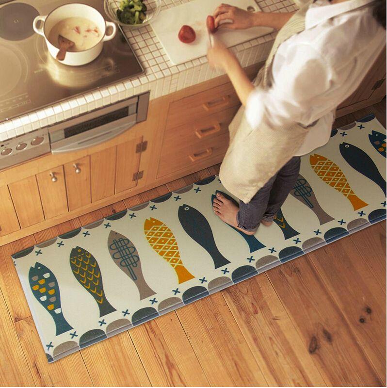 Kitchen Bathroom Home Rug Absorbent Non Slip Mats Carpet