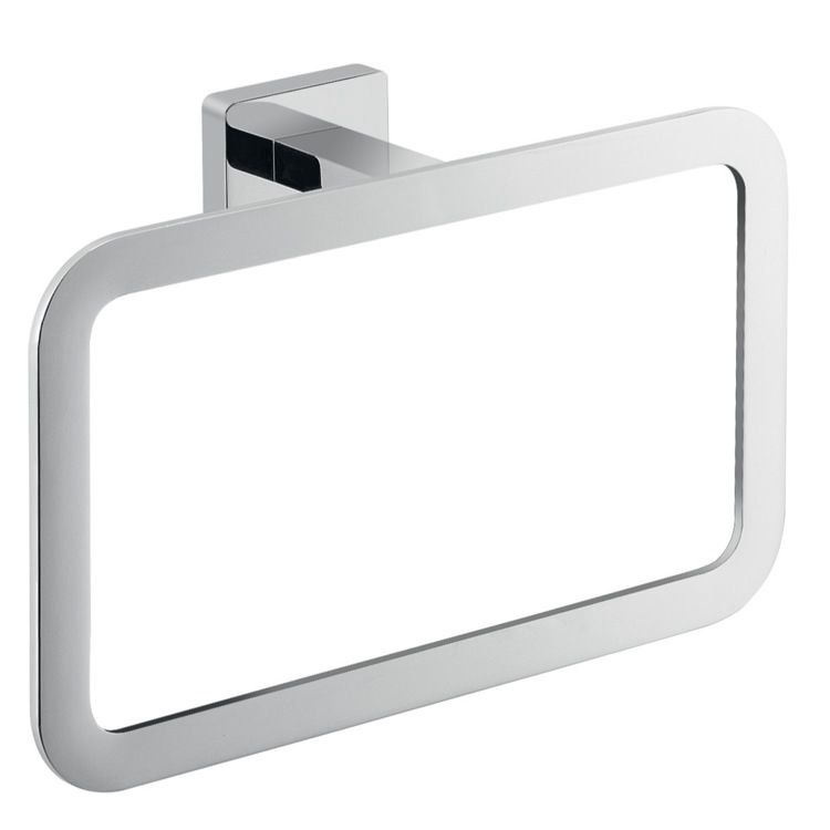Square Towel Ring For Hand Towel Made Of Cromall And Stainless Steel This Towel Ring Can Be Used In The Bathroom Powder Room Towel Rings Nameeks Wall Mount