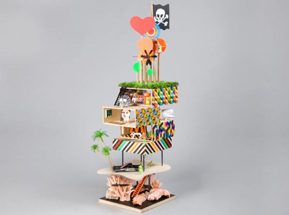 Dolls houses made by 20 best architects and designers Morag-myerscough-and-luke-morgan
