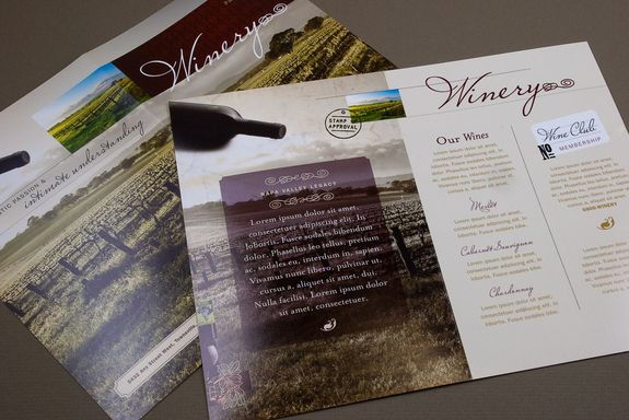 Classic Winery Brochure Template Use This Brochure To Showcase The