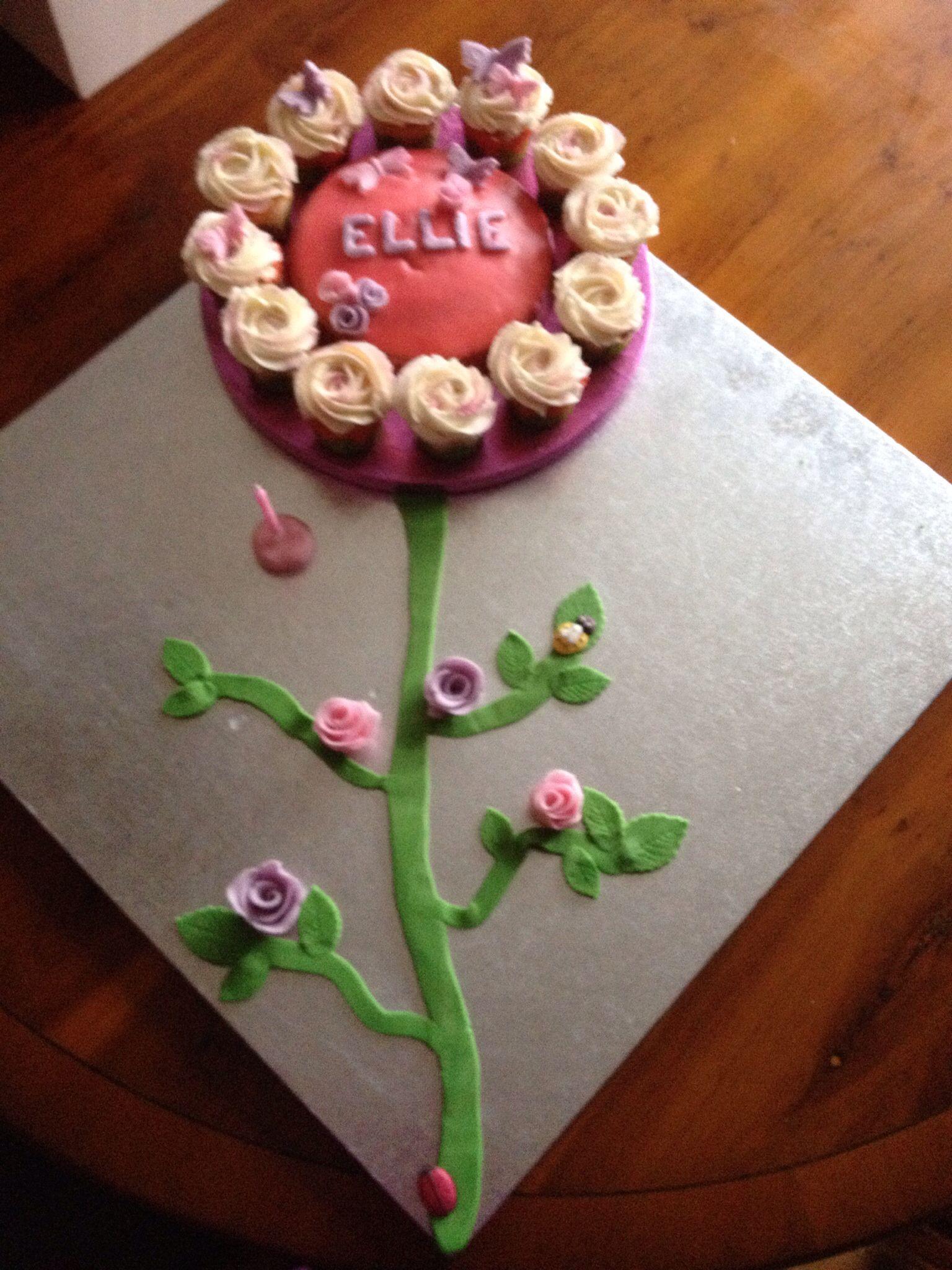 Flower Cake For My Daughters 1st Birthday Cakes Pinterest