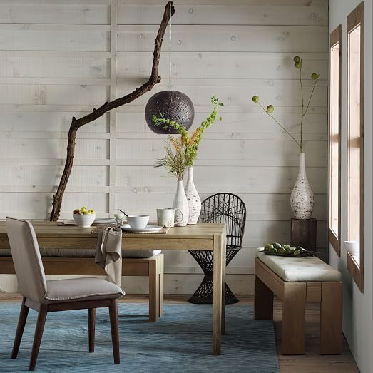 Astounding Tufted Dining Bench Cushion Reclaimed Wood Dining Table Machost Co Dining Chair Design Ideas Machostcouk