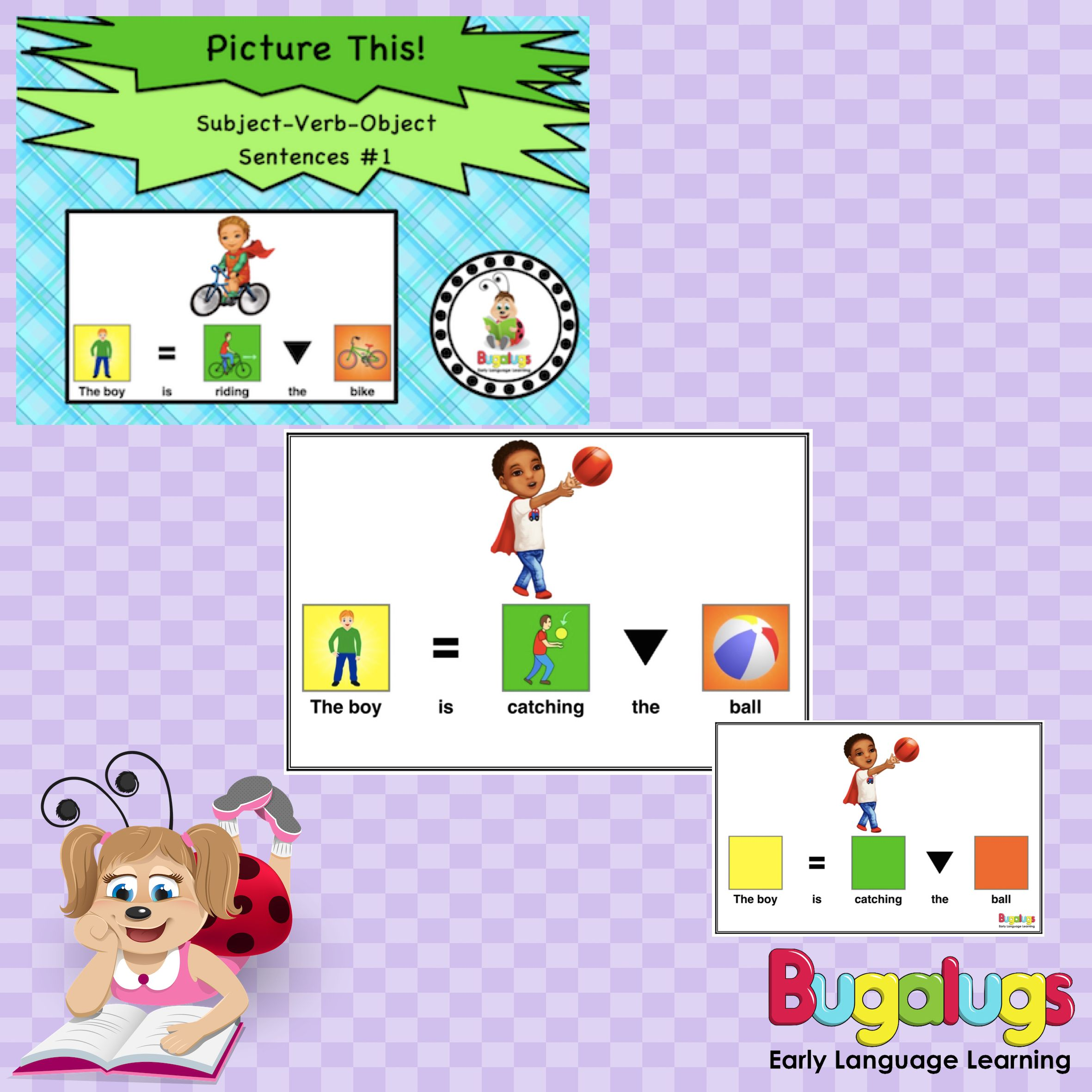 Subject Verb Object Visual Sentence Package 1 Use This Package To Tea Subject And Verb Speech Language Pathology Activities Sentence Structure Activities [ 2362 x 2362 Pixel ]