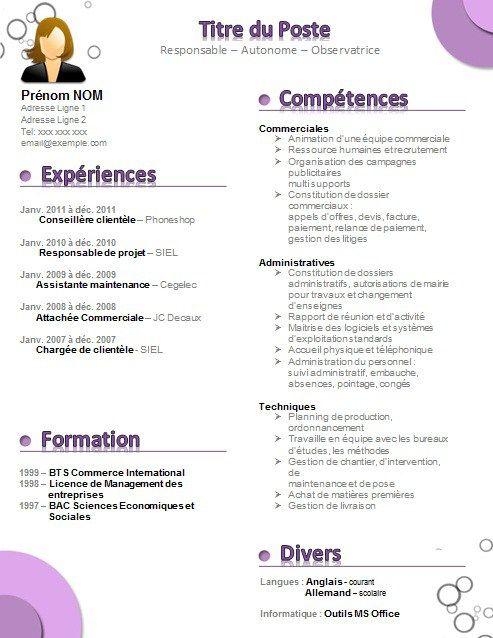 modeles cv d assistant en ressources humaines