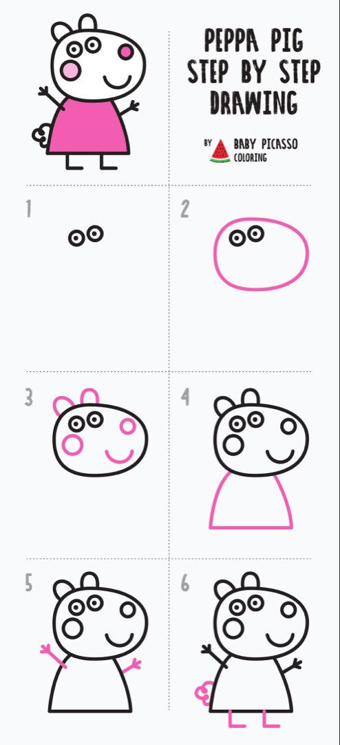 How to draw Suzy sheep - Peppa pig drawing and coloring pages