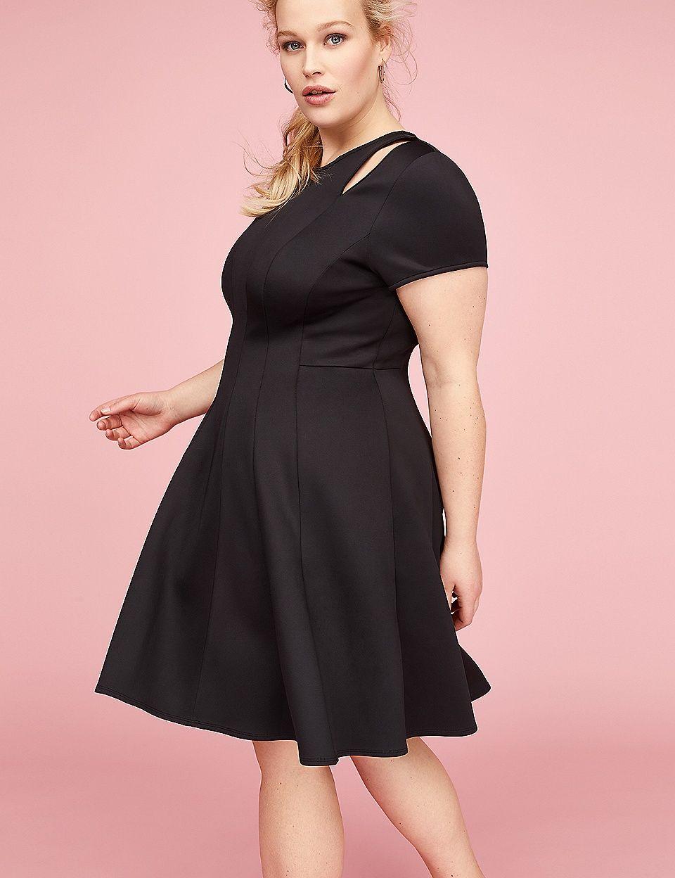 1693b9b13545 Scuba Princess Fit & Flare Dress | Lane Bryant | PHOTOGRAPHY Senior ...