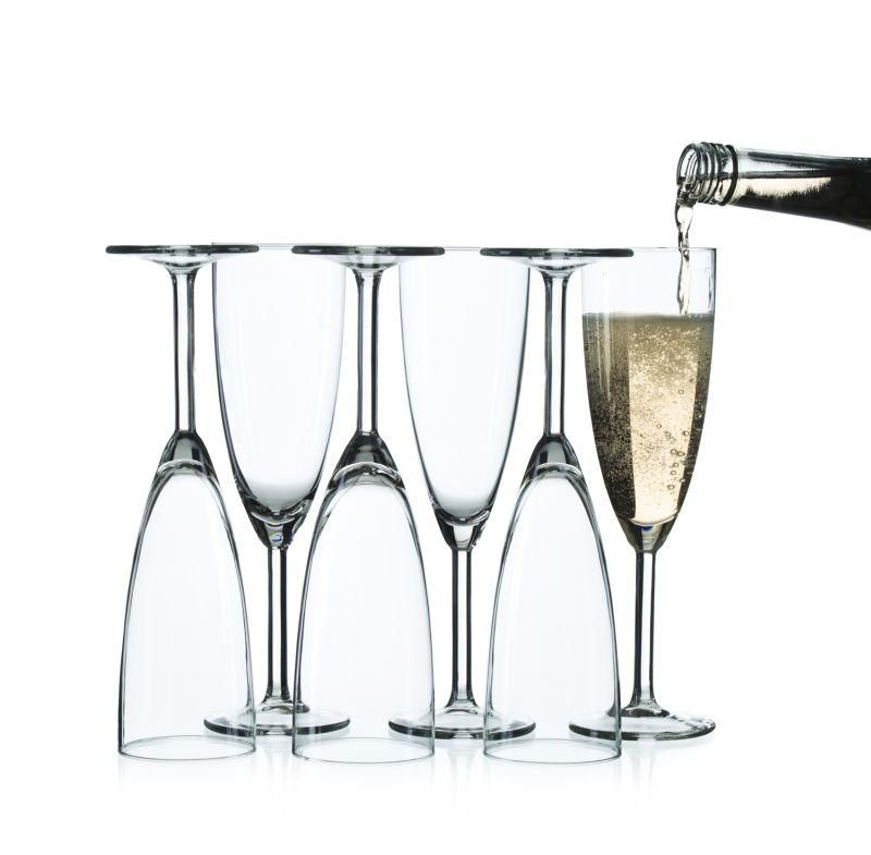 ikea svalka champagne flute clear glass 6 pack size 5oz. Black Bedroom Furniture Sets. Home Design Ideas