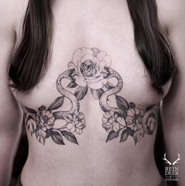 Erotisme et plus si affinités dans les tatouages de Curt Montgomery