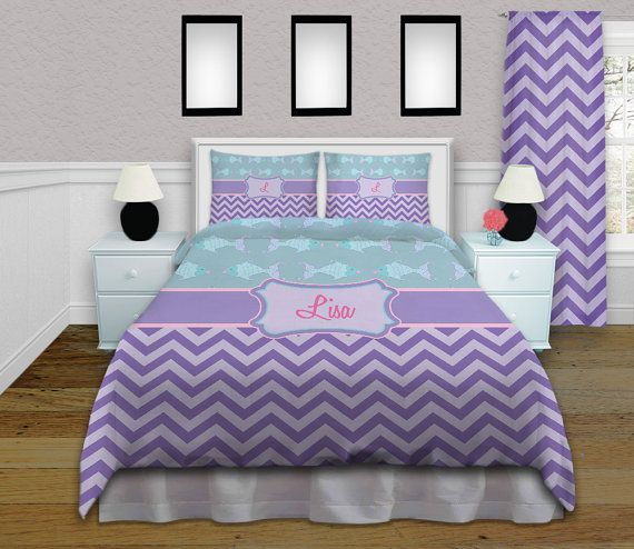 Bedroom Sets Purple the teal bedding with fish is oh so cute chevron purple bedding