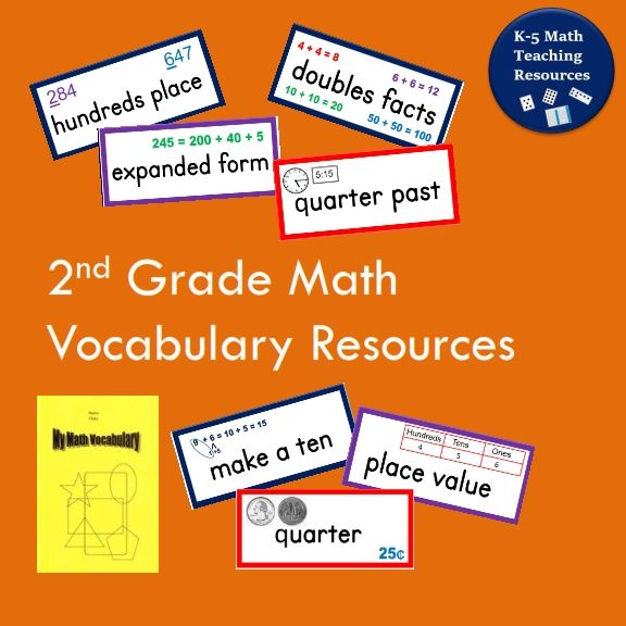 2nd Grade Math Word Wall and Math Vocabulary Book template - book template word