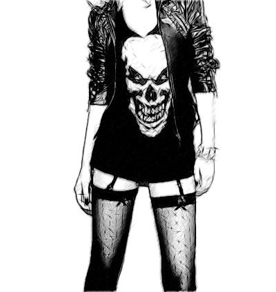 Desenhos De Rockeiras Tumblr Pesquisa Google Roupas Punk
