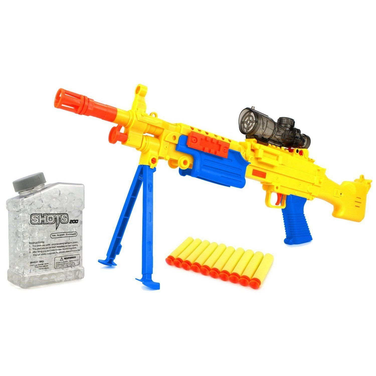 Velocity Toys YK Super Machine Gun Spring Powered Toy Foam Dart