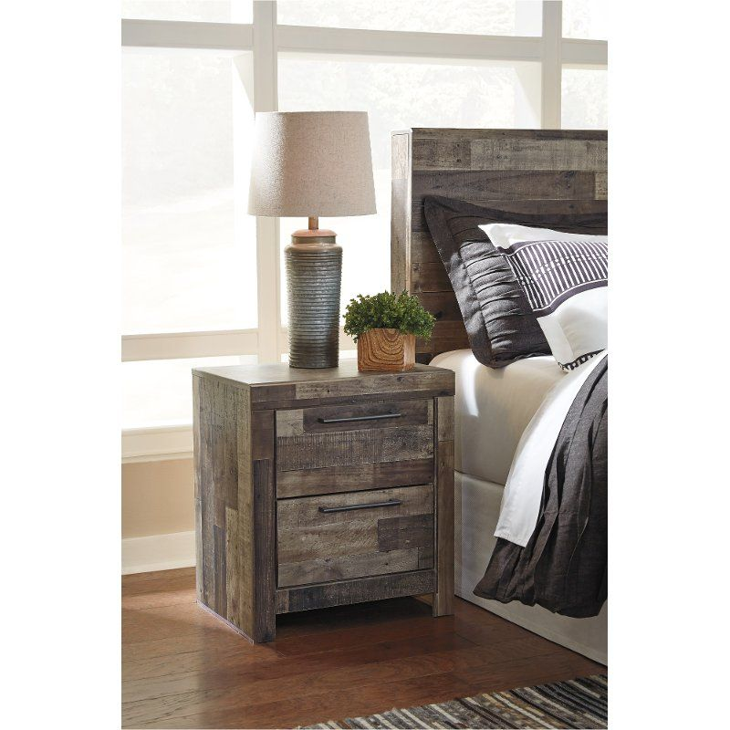 Modern Farmhouse Rustic Nightstand Broadmore Rustic Nightstand