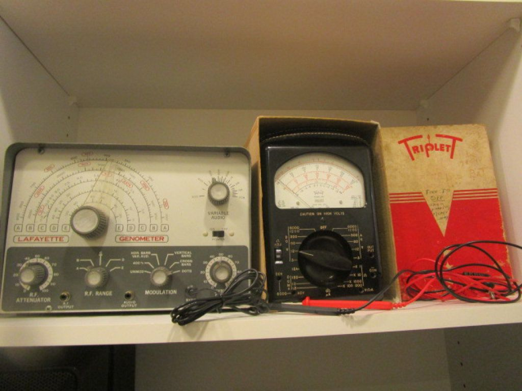 Vintage Lafayette Genometer and Triplett Model 630 Volt Ohm