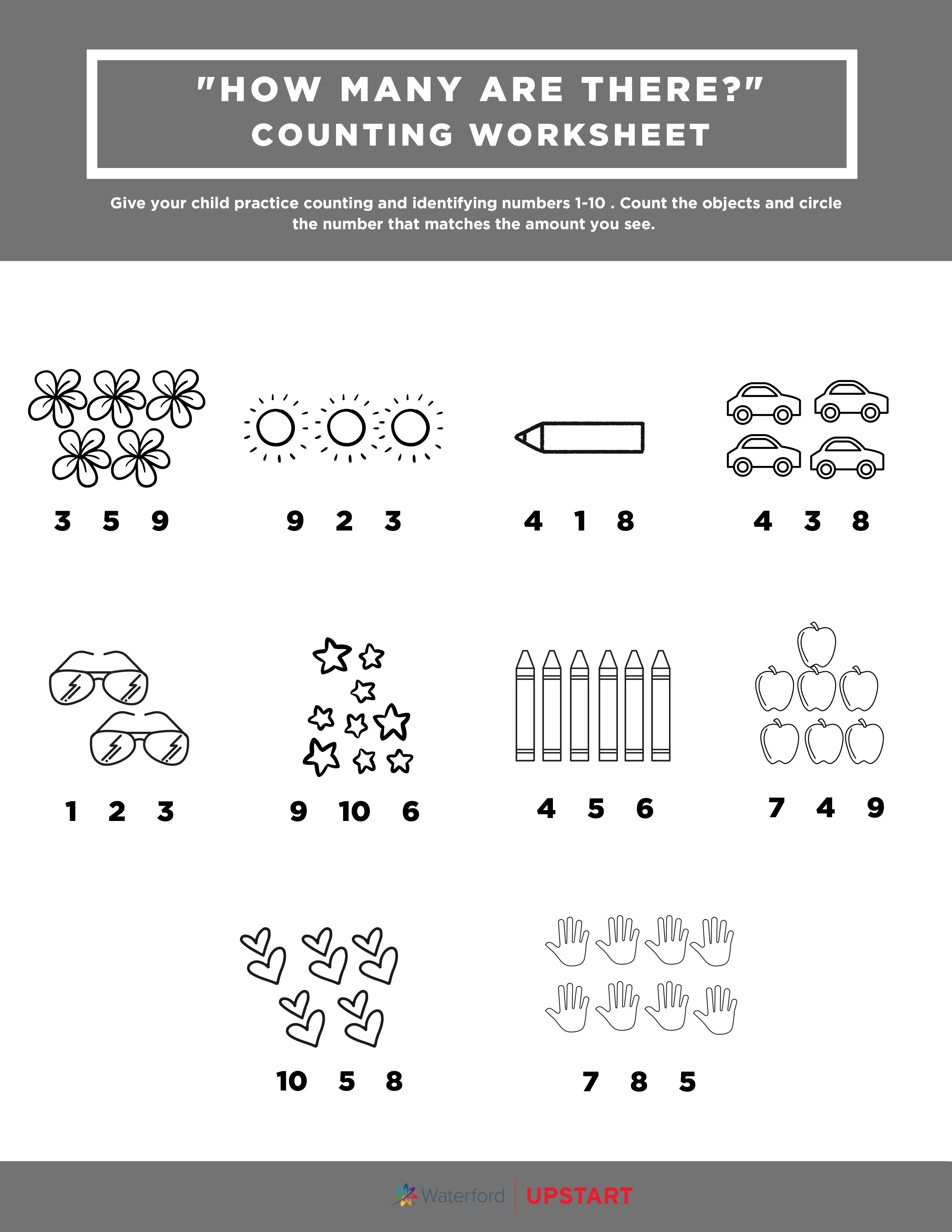 How Many Are There Worksheet Counting Worksheets Stem Learning Activities Stem For Kids [ 3300 x 2550 Pixel ]