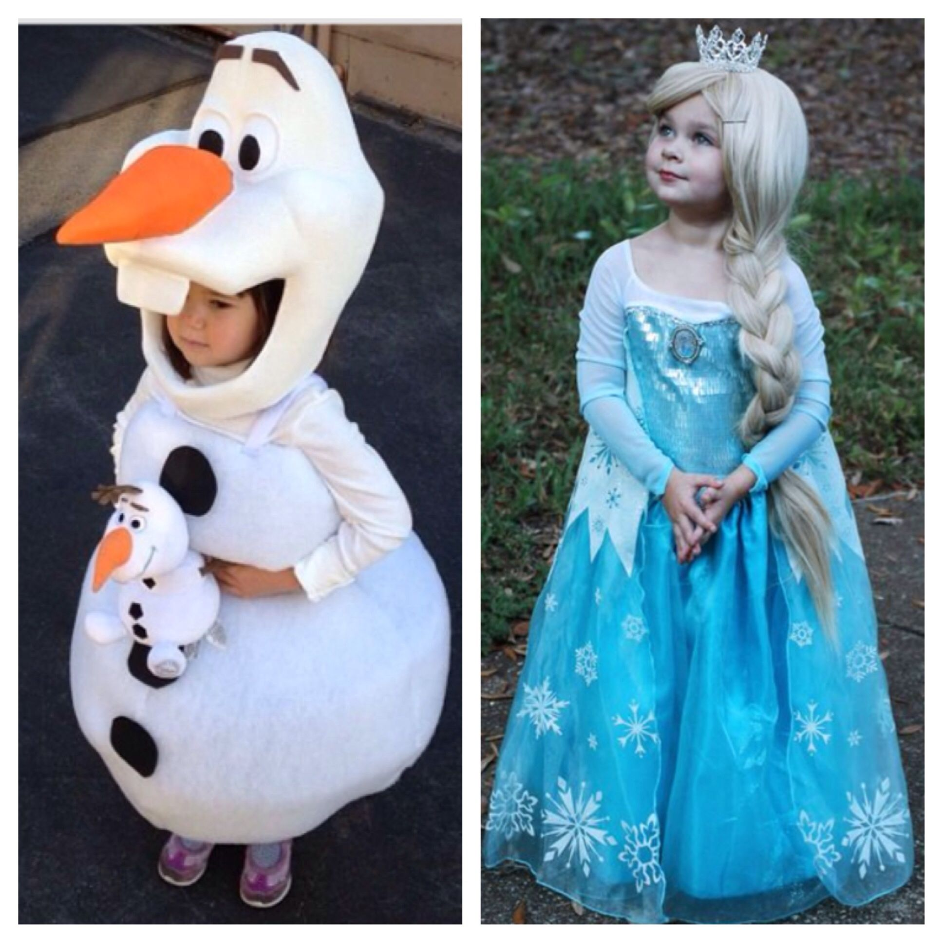 frozen costumes for the kids little guy can be olaf and ave can be elsa