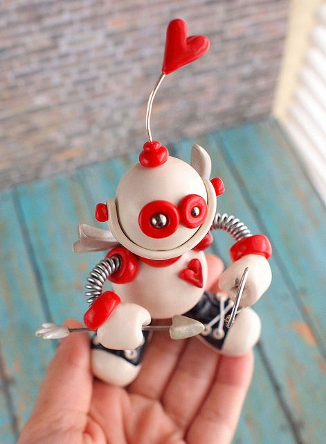 Robot Cupid Cam by HerArtSheLoves, via Flickr-too cute, gotta make something like it for grandson!