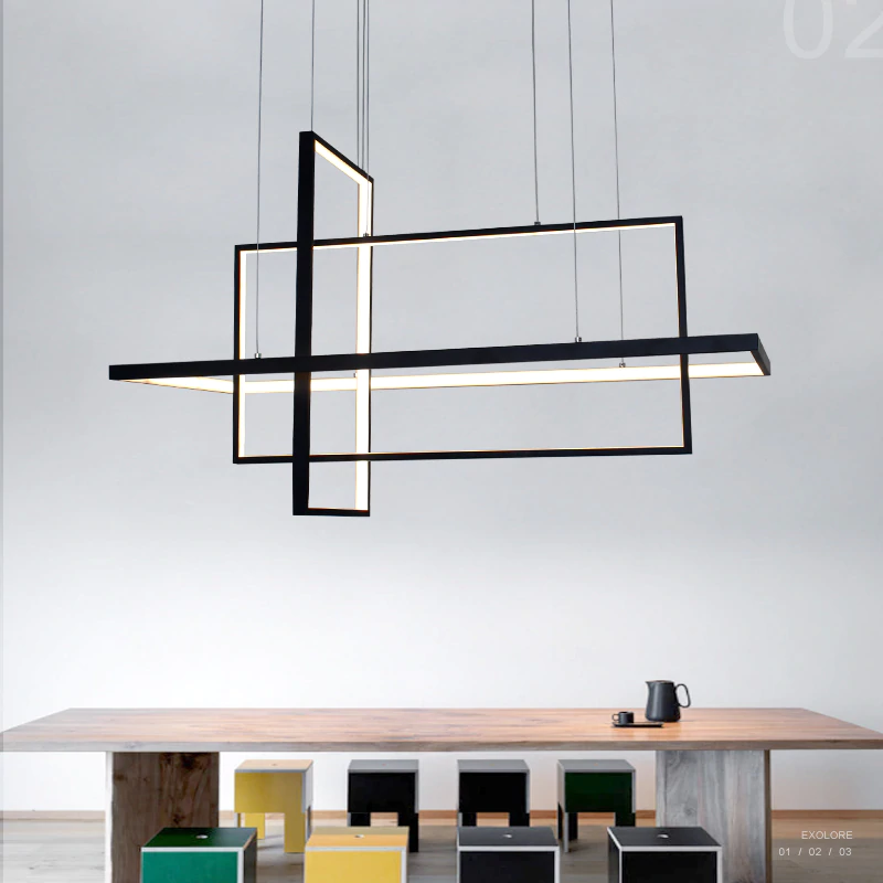 Umeiluce Modern Led Pendant Lights Creative Geometric Aluminium Hanging Lamp Smart Wi Fi Luminari Hanging Pendant Lamp Modern Hanging Lights Led Pendant Lights